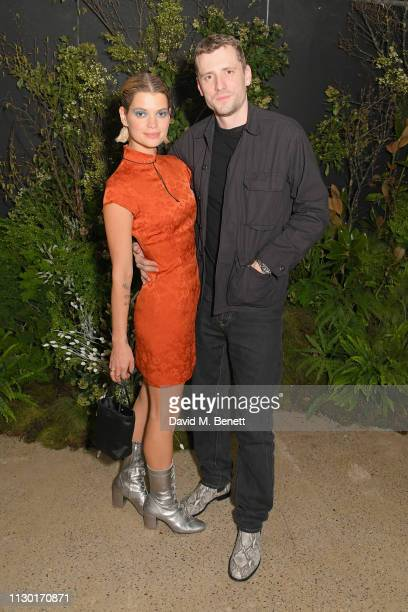 Pixie Geldof and George Barnett attend a private dinner to celebrate the launch of the new ALEXACHUNG x Sunglass Hut eyewear collection at Wild by...