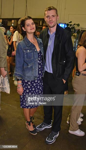 Angelica Mandy and Joe Sweeney attend the Bleach Summer Party at Protein Studios on July 17 2018 in London England