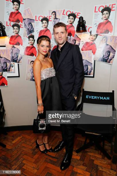Pixie Geldof and George Barnett attend the #MOVINGLOVE screening hosted by Derek Blasberg Katie Grand at Screen on the Green on July 15 2019 in...
