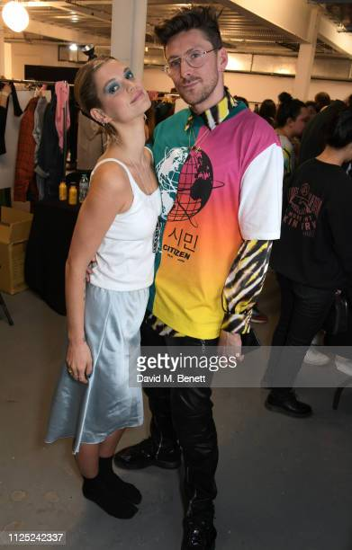 Pixie Geldof and Henry Holland attend the House of Holland AW19 London Fashion Week catwalk show showcasing the limitededition Vype ePen 3 / vaping...