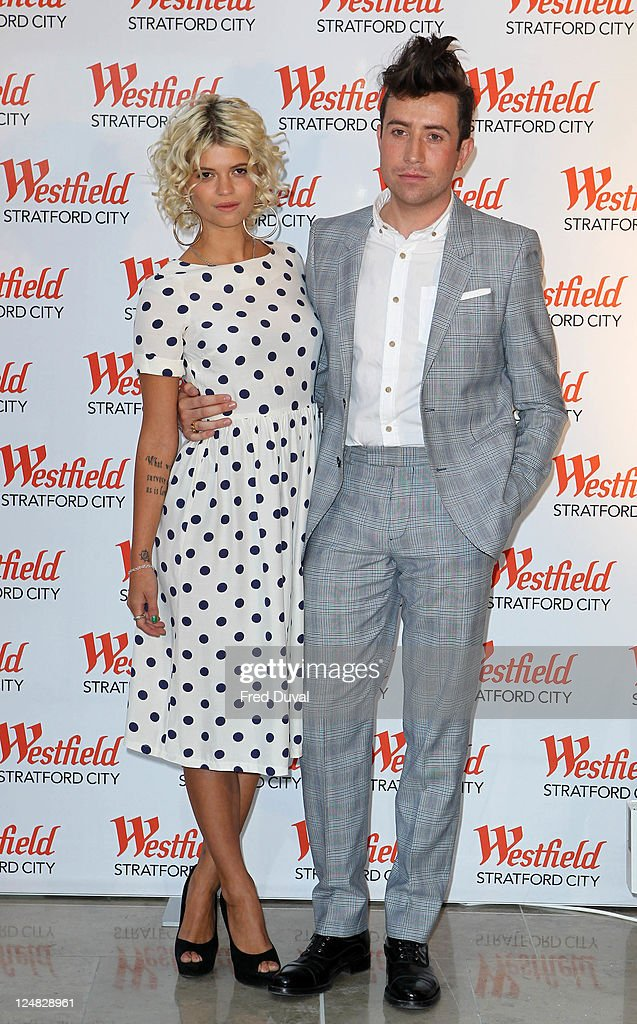 Pixie Geldof and Nick Grimshaw attend a photocall for the grand opening of Westfield Stratford City shopping centre at Westfield Stratford City on September 13, 2011 in London, England.