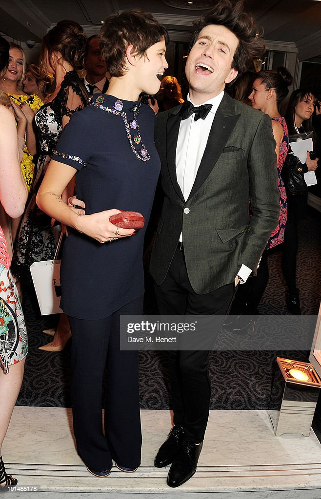 Pixie Geldof (L) and Nick Grimshaw attend the after party following the Elle Style Awards at The Savoy Hotel on February 11, 2013 in London, England.
