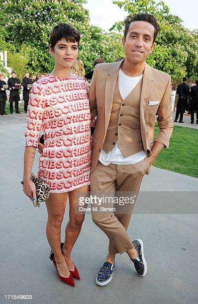 Pixie Geldof and Nick Grimshaw attend the annual Serpentine Gallery Summer Party cohosted by L'Wren Scott at The Serpentine Gallery on June 26 2013...