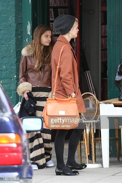 Pixie Geldof and Nick Grimshaw seen out and about in Primrose Hill on October 28 2011 in London England