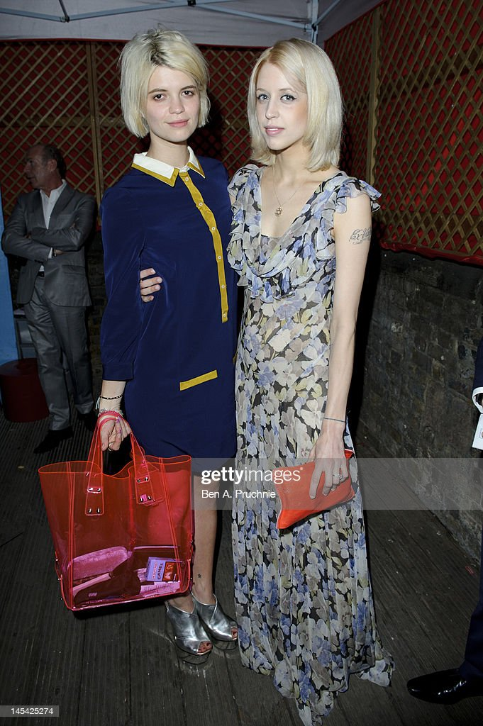 Pixie Geldof and Peaches Geldof attend Tunnel of Love in aid of The British Heart Foundation at Proud Camden on May 29, 2012 in London, England.
