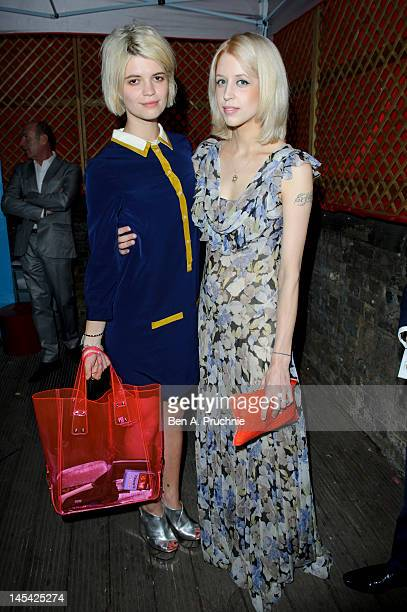 Pixie Geldof and Peaches Geldof attend Tunnel of Love in aid of The British Heart Foundation at Proud Camden on May 29 2012 in London England
