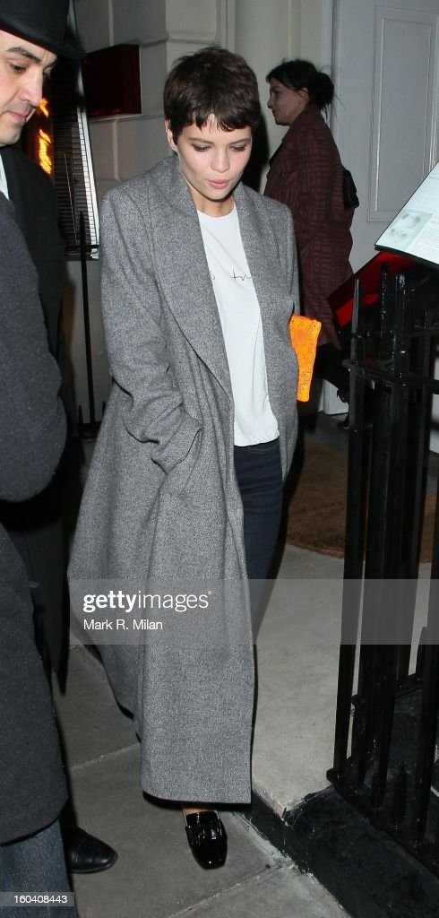 Pixie Geldof attending the Diet Coke private party held at Sketch restaurant on January 30, 2013 in London, England.