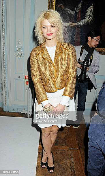 Pixie Geldof attends a dinner following the Mulberry Autumn/Winter 2012 show during London Fashion Week at The Savile Club on February 19 2012 in...