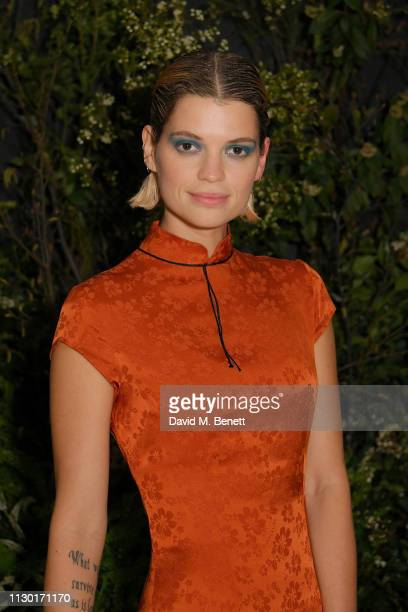 Pixie Geldof attends a private dinner to celebrate the launch of the new ALEXACHUNG x Sunglass Hut eyewear collection at Wild by Tart on February 16...
