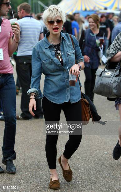 Pixie Geldof attends day 2 of the O2 Wireless Festival 2008 on July 4 2008 in London England