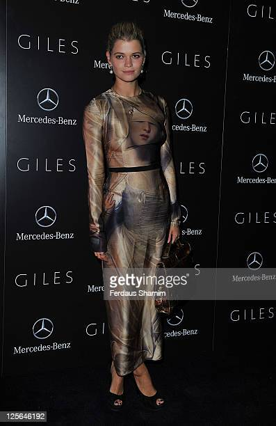 Pixie Geldof attends Giles' Spring/Summer 2012 Collection Party hosted by MercedesBenz at Elms Lesters Painting Rooms on September 19 2011 in London...