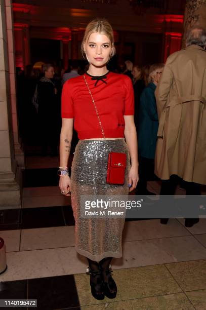 Pixie Geldof attends Mary Quant VIP preview at The VA on April 03 2019 in London England