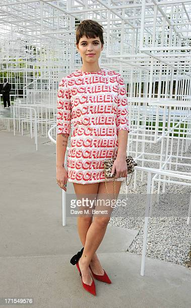 Pixie Geldof attends the annual Serpentine Gallery Summer Party cohosted by L'Wren Scott at The Serpentine Gallery on June 26 2013 in London England