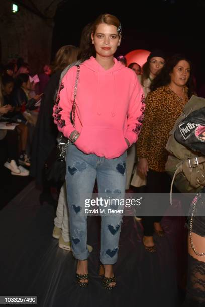 Pixie Geldof attends the Ashley Williams front row during London Fashion Week September 2018 at House of Vans on September 14 2018 in London England