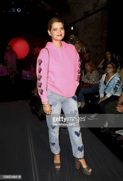 Pixie Geldof attends the Ashley Williams presentation during London Fashion Week September 2018 at the House of Vans on September 14 2018 in London...
