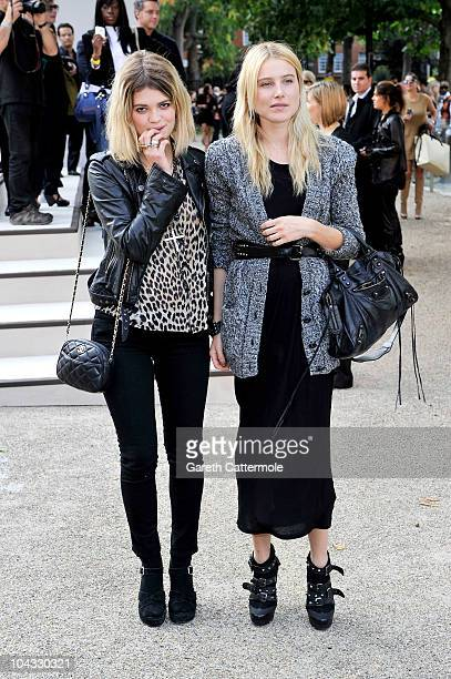 Pixie Geldof attends the Burberry Prorsum Spring/Summer 2011 fashion show during LFW at Chelsea College of Art and Design on September 21, 2010 in...