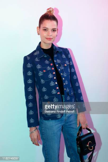 Pixie Geldof attends the Chloe show as part of the Paris Fashion Week Womenswear Fall/Winter 2019/2020 on February 28, 2019 in Paris, France.