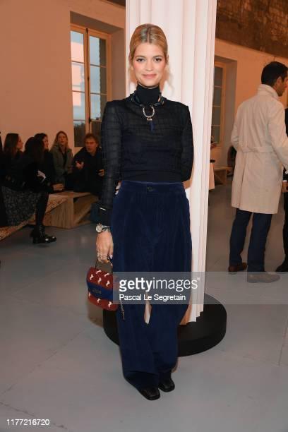 Pixie Geldof attends the Chloe Womenswear Spring/Summer 2020 show as part of Paris Fashion Week on September 26, 2019 in Paris, France.
