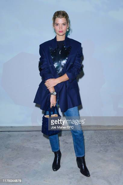 Pixie Geldof attends the Christopher Kane show during London Fashion Week September 2019 at Hawley Wharf on September 16, 2019 in London, England.