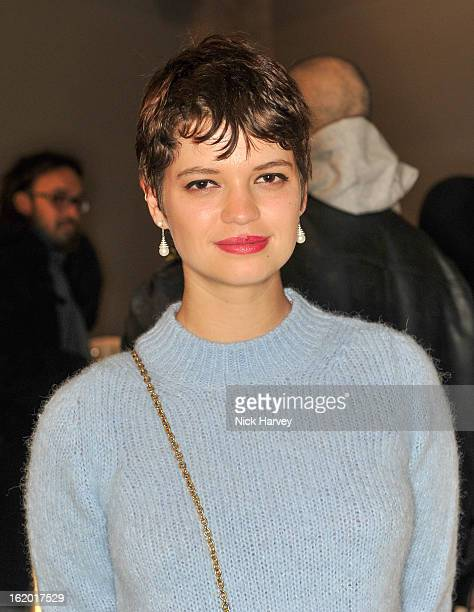 Pixie Geldof attends the Fashion East show during London Fashion Week Fall/Winter 2013/14 at TopShop Show Space on February 18 2013 in London England