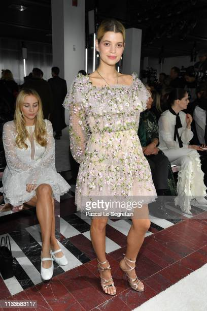 Pixie Geldof attends the Giambattista Valli show as part of the Paris Fashion Week Womenswear Fall/Winter 2019/2020 on March 04 2019 in Paris France