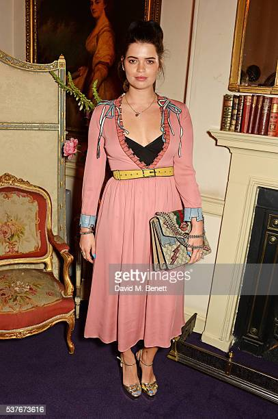 Pixie Geldof attends the Gucci party at 106 Piccadilly in celebration of the Gucci Cruise 2017 fashion show on June 2 2016 in London England