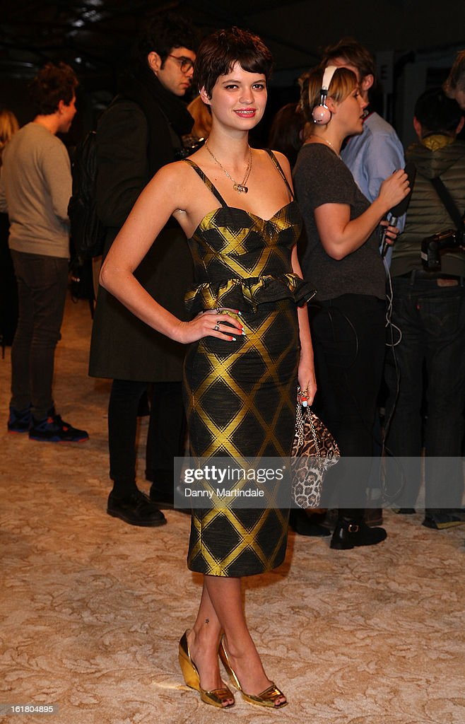 Pixie Geldof attends the House of Holland show during London Fashion Week Fall/Winter 2013/14 at Brewer Street Car Park on February 16, 2013 in London, England.