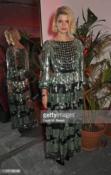 Pixie Geldof attends the LOVE x The Store X party celebrating LOVE issue 21, supported by Perrier Jouet, at The Store X on February 18, 2019 in...