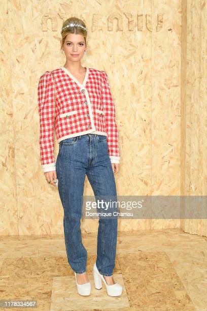 Pixie Geldof attends the Miu Miu Womenswear Spring/Summer 2020 show as part of Paris Fashion Week on October 01 2019 in Paris France