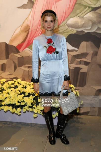 Pixie Geldof attends the Shrimps show during London Fashion Week February 2019 at Ambika P3 on February 19 2019 in London England