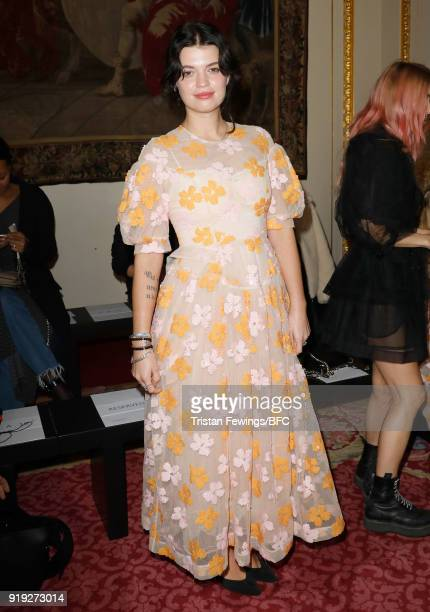 Pixie Geldof attends the Simone Rocha show during London Fashion Week February 2018 at Goldsmith's Hall on February 17 2018 in London England
