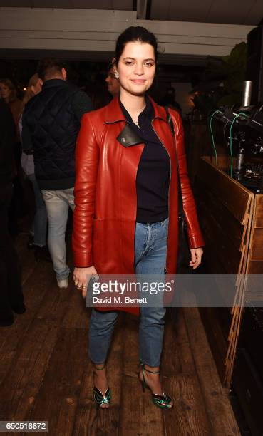 Pixie Geldof attends the Taylor Hill x Joe's Jeans party celebrating the Spring/Summer 2017 campaign at Shoreditch House on March 9 2017 in London...