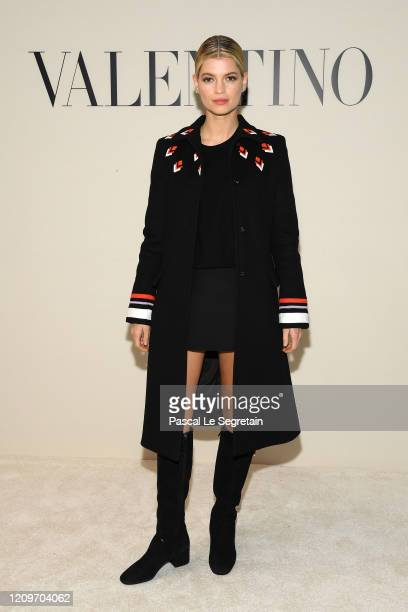Pixie Geldof attends the Valentino show as part of the Paris Fashion Week Womenswear Fall/Winter 2020/2021 on March 01, 2020 in Paris, France.