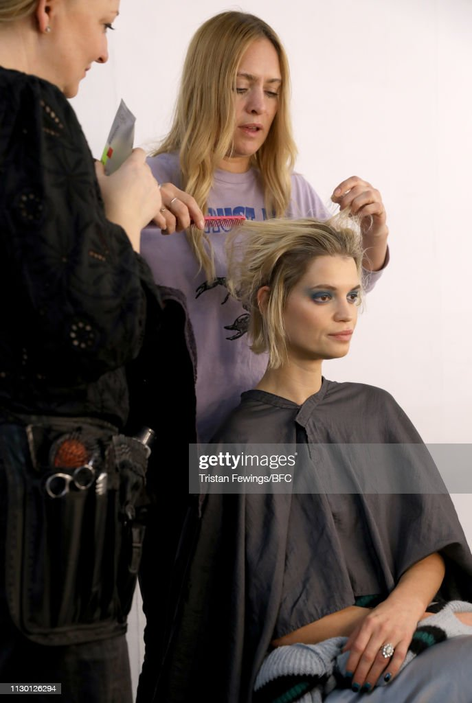 GBR: House of Holland - Backstage - LFW February 2019