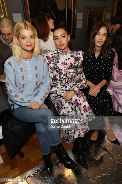 Pixie Geldof Charli XCX and Alexa Chung attend the Erdem show during London Fashion Week February 2020 on February 17 2020 in London England