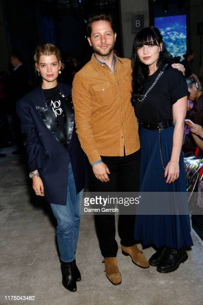 Pixie Geldof Derek Blasberg and Daisy Lowe attend the Christopher Kane show during London Fashion Week September 2019 on September 16 2019 in London...