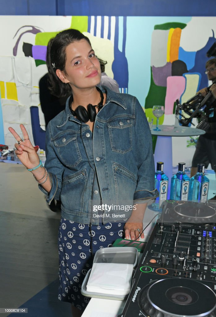 Pixie Geldof DJs at the launch of Bombay Sapphire's 'Canvas', a destination designed to stir creativity and inspire creative self-expression, in Shoreditch on July 17, 2018 in London, England.