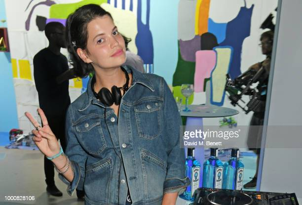 Pixie Geldof DJs at the launch of Bombay Sapphire's 'Canvas' a destination designed to stir creativity and inspire creative selfexpression in...