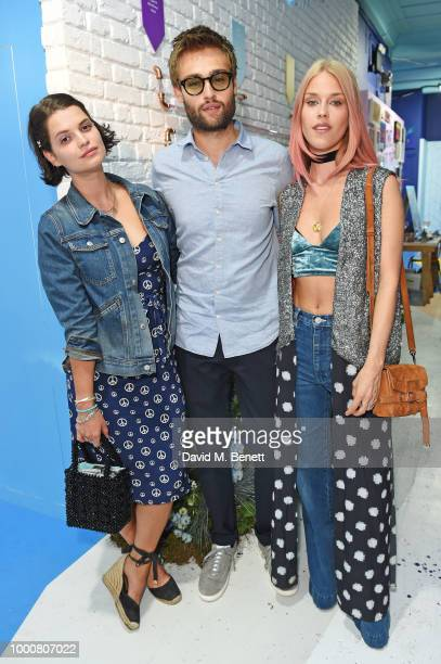 Pixie Geldof Douglas Booth and Mary Charteris attend the launch of Bombay Sapphire's 'Canvas' a destination designed to stir creativity and inspire...