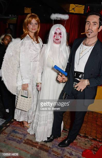 Pixie Geldof Fran Cutler and Nick Grimshaw attend Fran Cutler's annual Halloween party in association with CIROC Vodka Black Raspberry at MOMO on...