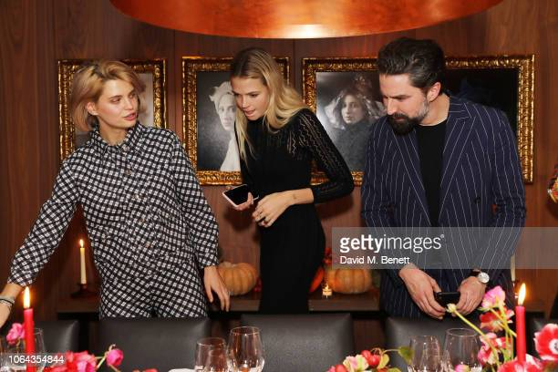Pixie Geldof Gabriella Wilde and Jack Guinness attend Alexa Chung's CHUNGSGIVING dinner to celebrate Thanksgiving and the launch of her exclusive...