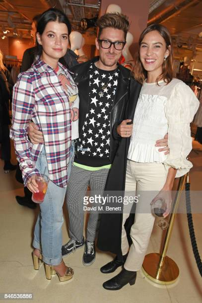 Pixie Geldof Henry Holland and Alexa Chung attend the launch of the House of Holland x Woody Woodpecker London Fashion Week pop up at Fenwick Of Bond...