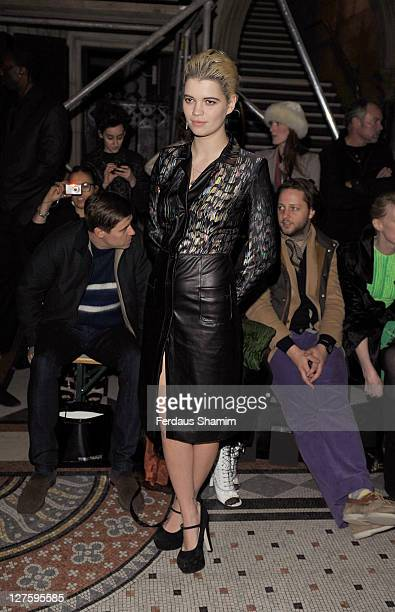 Pixie Geldof is seen in the front row at the Giles show at London Fashion Week Autumn/Winter 2011 on February 21 2011 in London England
