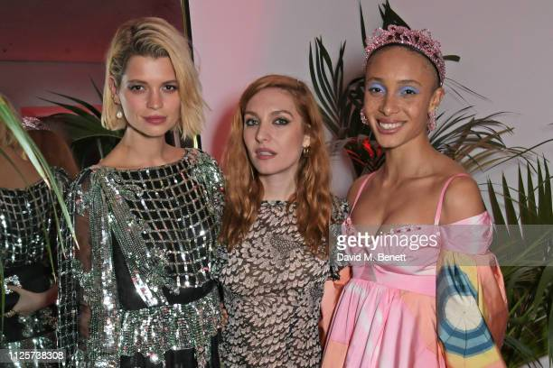 Pixie Geldof Josephine de La Baume and Adwoa Aboah attend the LOVE x The Store X party celebrating LOVE issue 21 supported by Perrier Jouet at The...