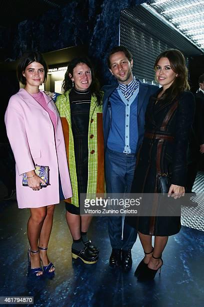 Pixie Geldof Katie Grand Derek Blasberg and Dasha Zhukova attend the Prada Journal Event during the Milan Menswear Fashion Week Fall Winter 2015/2016...