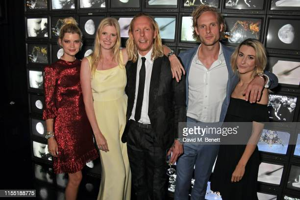 Pixie Geldof Lara Stone Laurence Fox Jack Fox and Eleanor Fletcher attend an OMEGA dinner celebrating the 50th anniversary of the Moon Landing at...