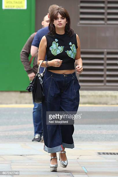 Pixie Geldof seen at House of Holland on Day 2 of London Fashion Week Spring/Summer 2017 on September 17 2016 in London England