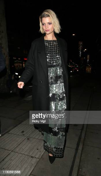 Pixie Geldof seen attending London Fabulous Fund Fair at Roundhouse during LFW February 2019 on February 18 2019 in London England
