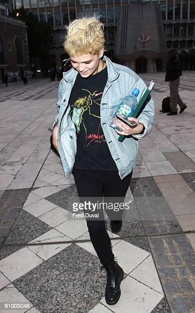 Pixie Geldof sighting on September 21, 2009 in London, England.