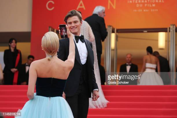 Pixie Lott and and her boyfriend Oliver Cheshire attend the screening of La Belle Epoque during the 72nd annual Cannes Film Festival on May 20 2019...